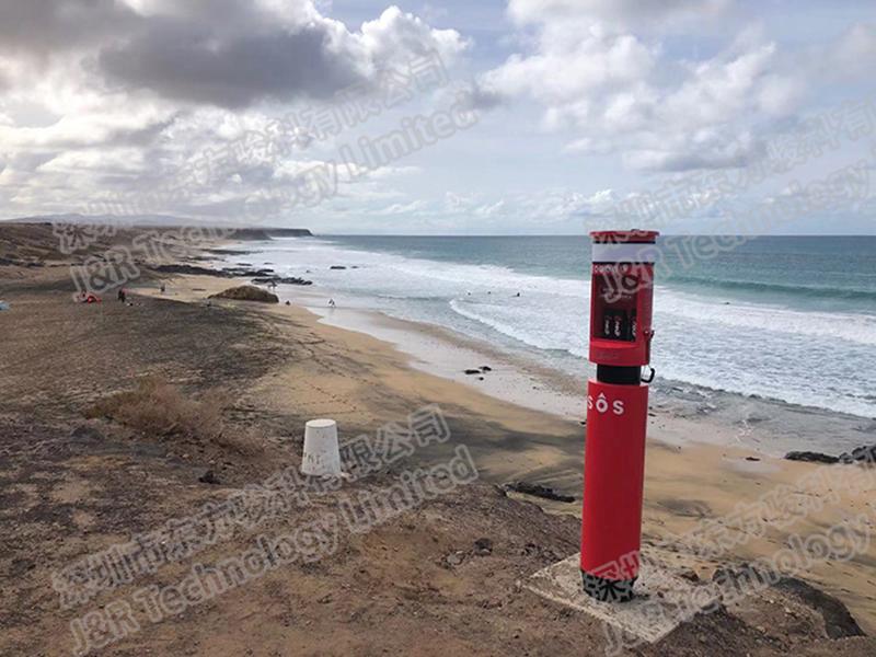 Emergency Telephone Pillar Used in Fuerteventura