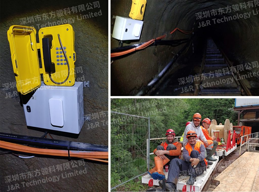 Emergency telephone project for construction tunnels in Switzerland